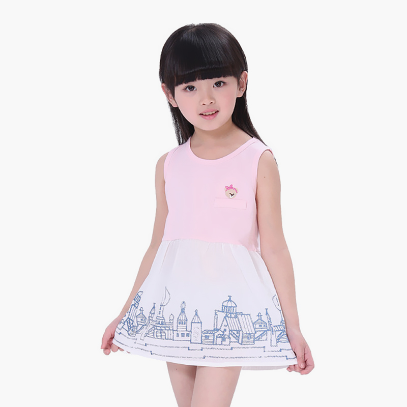 南极人3-8岁可爱公主风儿童连衣裙_裙子_童装童鞋
